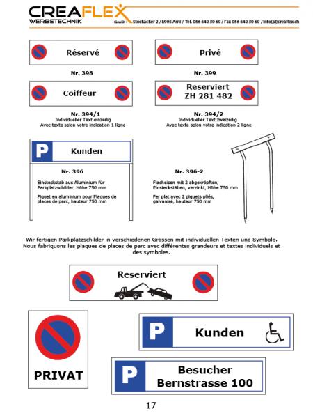 17 Parkplatzschilder1