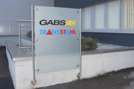 Gabs-Transstahl-Eingangstafel